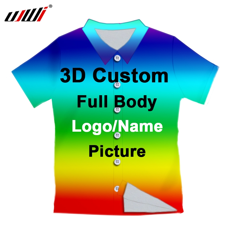 3D Print Hawaiian Custom Women/Men Button shirt Polyester Oversizes factory direct clothing wholesale Dropship  Team  Clothing