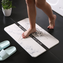 Nordic marble-style diatom mud mat durable and quick-drying absorbent bathroom carpet non-slip diatom carpet