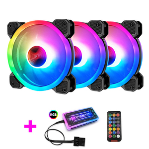 COOLMOON GUANGMAG2 чехол для компьютера охлаждающий вентилятор для ПК RGB Настройка 120 мм тихий + ИК-пульт Новый кулер для компьютера RGB чехол для проце...