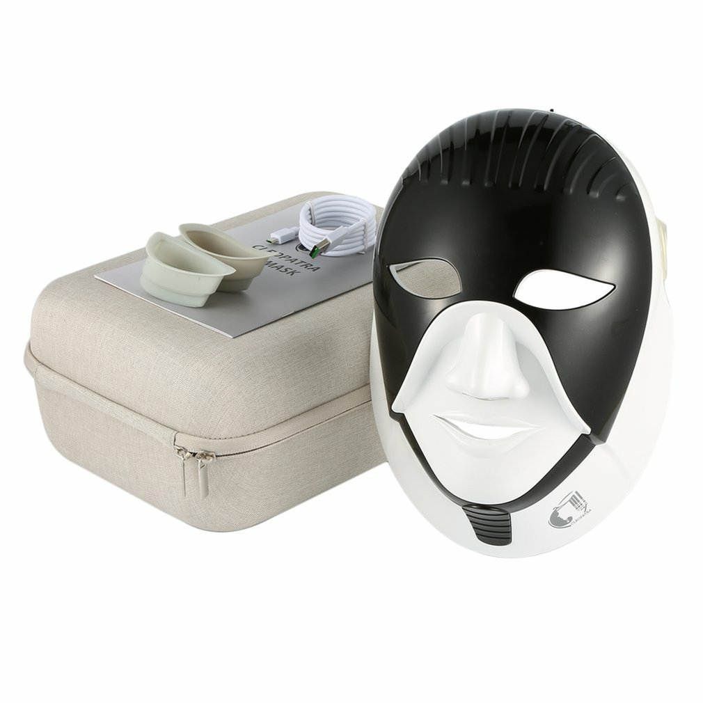 Colorful Light LED Mask For Skin Care LED Facial Mask With Neck Egypt Style Facial Mask Photon Therapy Face Beauty Tool