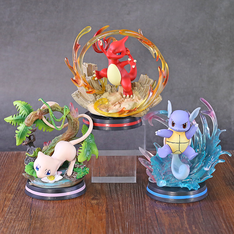 Anime Monster Center Wartortle / Charmeleon / Mewtwo PVC Figure Collectible Figurine Toy