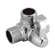 "3-Way Messing Chrome Diverter G1/2 ""T Shape Adapter Valve Voor Douche Arm Gemonteerd Badkamer Accessoires(China)"