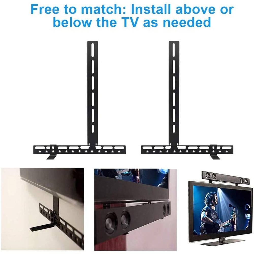 HYASIA TV Soundbar Mounts Sound bar Brackets for Mounting Above or Under TV Adjustable Arm Fits no drilling mount holder stand