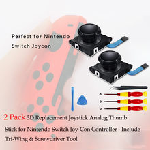 best selling 2019 products 3D Analog Sensor Stick Joysticks Repair Parts Kits For Switch NS JoyCon 8PCS for wearable devices(China)