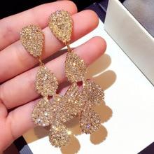 baroque New popular Korean  bohemian  trendy drop vintage earrings  indian jewelry luxury rhinestone earrings  for women цена