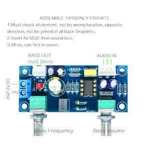 Image 5 - Hot 3C Low Pass Filter Bass Subwoofer Pre AMP Amplifier Board Dual Power NE5532 Low Pass Filter Bass Preamplifier DIY Kit