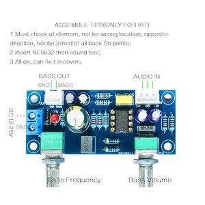 Image 5 - Kit DIY de preamplificador de graves con filtro de paso bajo 3C Low Pass, placa amplificadora de amperios Doble potencia NE5532