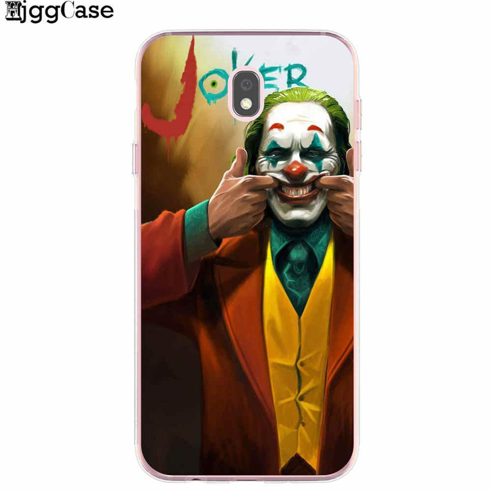 جوكر 2019 فيلم الرعب وضع على وجه سعيد لينة حافظة من البولي يوريثان غطاء شفاف لسامسونج J3 J5 J7 2016 2017 J4 J6 Plus 2018 نوت 10 Pro
