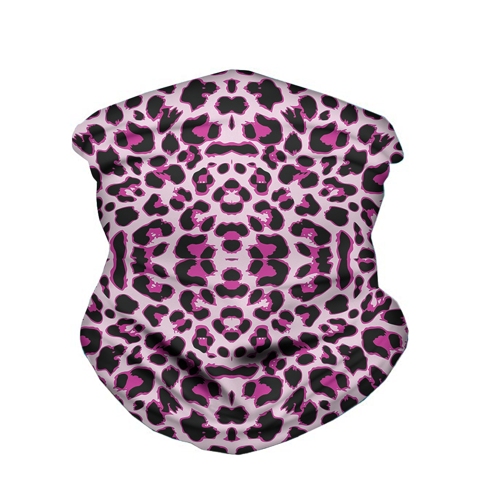 High Elastic 3D Leopard Scarf Seamless Bandana Women Headwear Hiking Scarf Magic Headband Buff Balaclava Anti UV Dust Bufandas