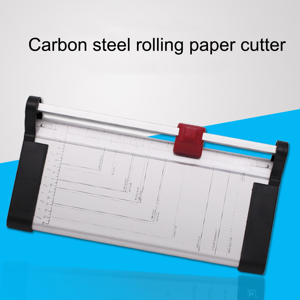A4 Rotary Paper Trimmer Photo Trimmer 12 Inch Cutting Length Manual Paper Cutter Durable Office Paper Cutter For Office
