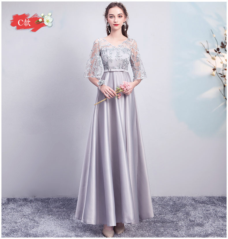 Wedding Guest Long Dress For Wedding Party Satin V-neck Bridesmaid Dress Vestido De Fiesta Cortos Elegantes Sexy Prom Club Dress