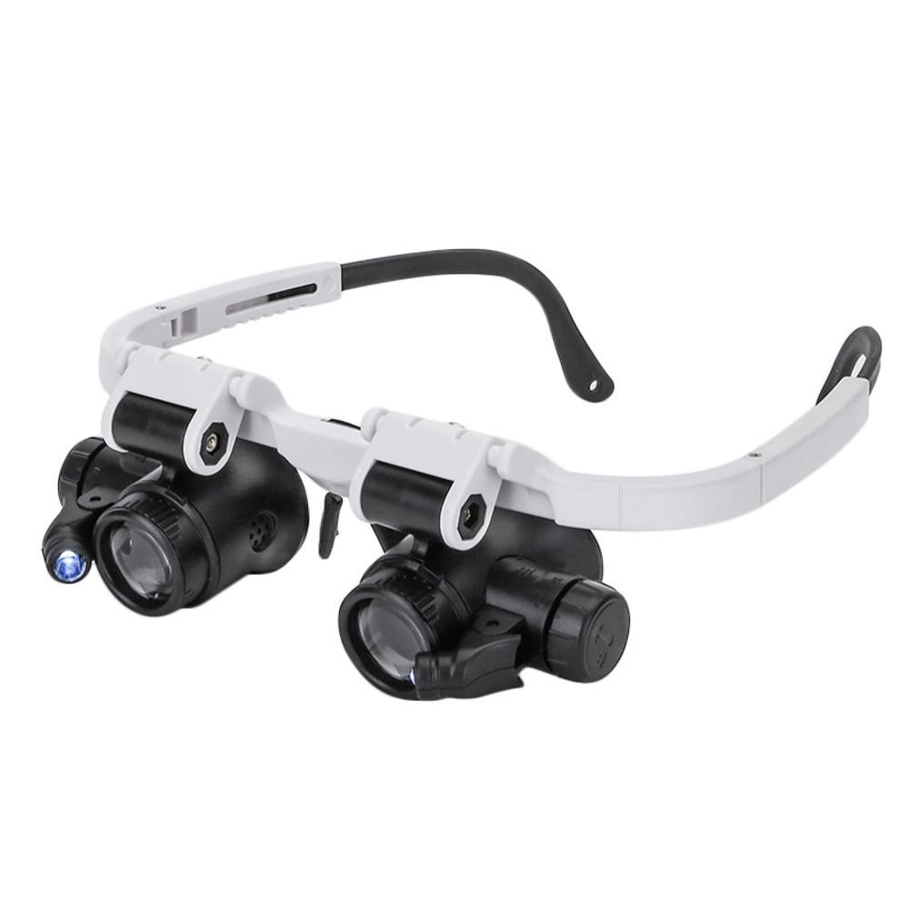 헤드 밴드 안경 돋보기 LED 라이트 8X 15X 23X 돋보기 시계 제조 업체 쥬얼리 광학 렌즈 유리 돋보기 루페