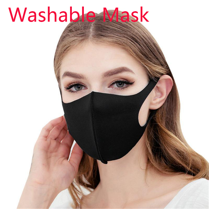 10/5/1PC Face Mask Reusable Air Purifying Mouth Mask Carbon PM2.5 Filter Anti Dust Fog Washable Protection Masks Wholesale