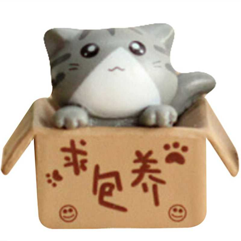 1 pcs//kitty cat//miniatures//lovely cute//fairy garden gnome//moss terrarium decor//crafts//bonsai//doll house//figurine//model//toy