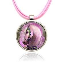 Волшебные Подвески в виде единорога лошади ожерелья из сплава
