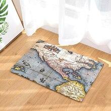 World Map Print Mats Floor Kitchen Bathroom Rugs Doormat Carpets Personalized 40X60cm 50x80cm slogan print doormat