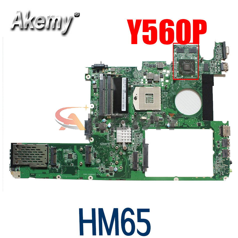 Материнская плата для ноутбука LENOVO Ideapad Y560P HM65, материнская плата 11013167 DAKL3EMB8E0 216-0772003