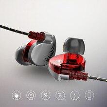 3,5mm en la oreja los Auriculares auriculares para teléfono celular 2019 nuevo alta QKZ CK7 bajo alto Dual estéreo deporte auriculares con micrófono O