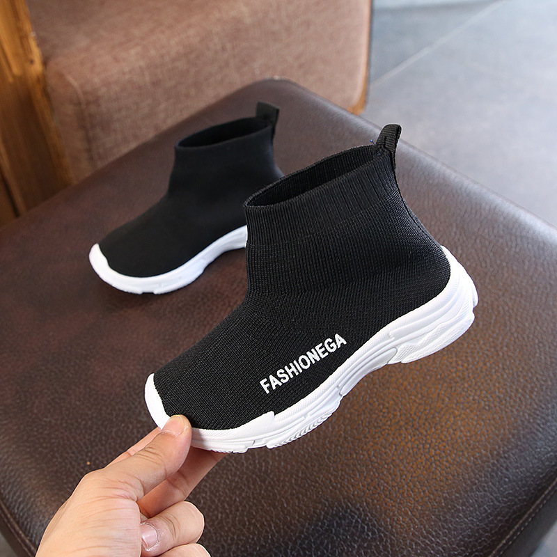 Kids Casual Shoes 2019 Autumn Fashionable  Breathable Slip On Leisure Sports Running Shoes For Girls Shoes For Boys Sneakers