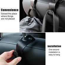 3 pçs assento de carro volta gancho de armazenamento 4 pçs veículo encosto de cabeça organizador gancho de armazenamento para mantimentos saco bolsa acessórios do carro