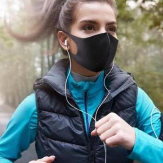 10pcs  Mouth Face Anti Pm2.5 Dust Mouth  Activated Carbon Filter Korean Fabric Face  Cotton Black Dustproof Sport 4