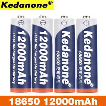 Nowy akumulator 18650 akumulator 3 7V 18650 12000mAh pojemność akumulator litowo-jonowy do latarki latarka bateria tanie i dobre opinie Kedanone Li-ion Baterie Tylko Pakiet 1 2-20PCS