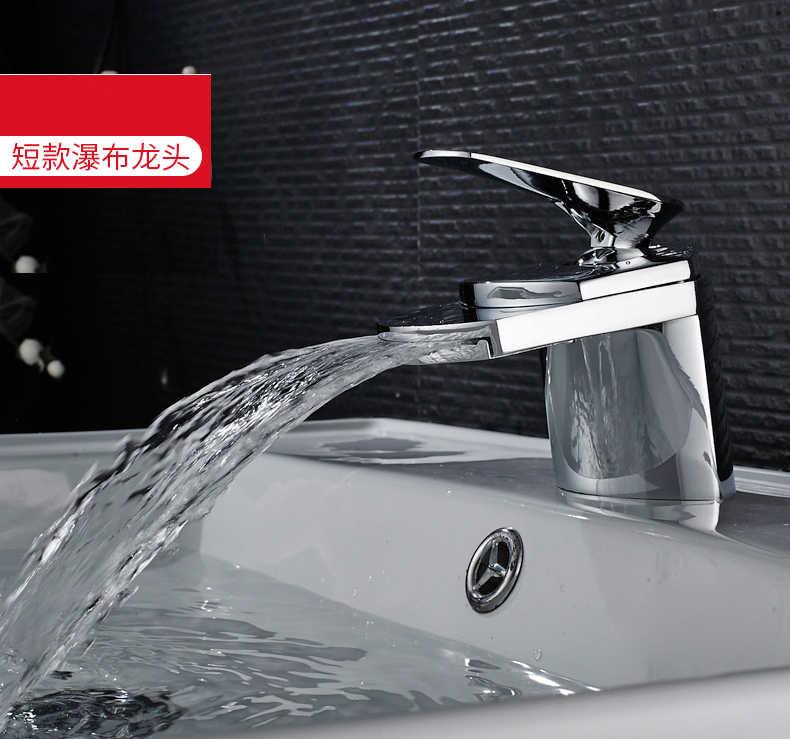 Banheiro cachoeira torneira da bacia torneira de bronze pia misturadora torneira de controle temperatura moderna duckbill torneira