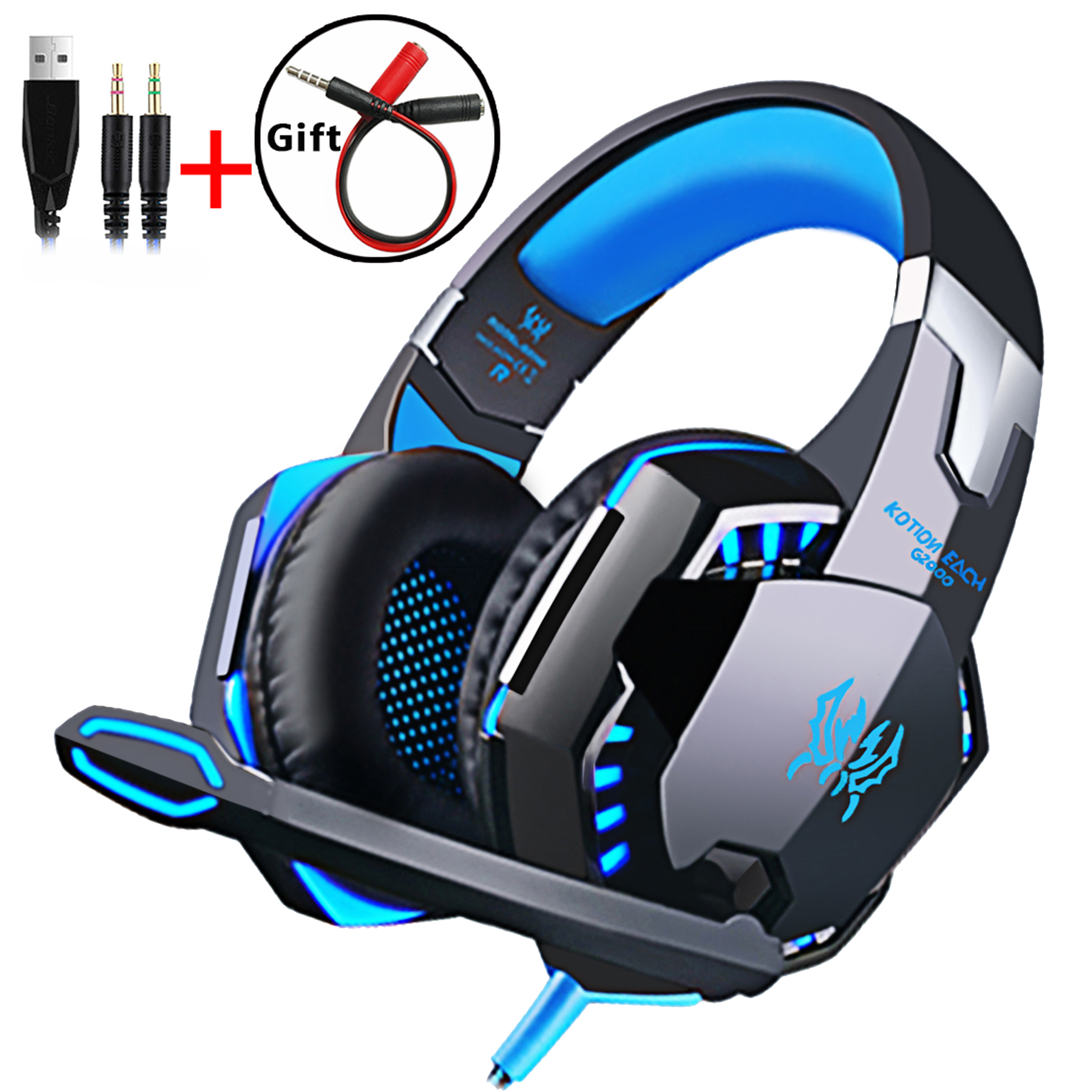 Wired Gaming Headset <font><b>Headphones</b></font> <font><b>Surround</b></font> sound Deep bass Stereo Casque Earphones with Microphone For Game XBox <font><b>PS4</b></font> PC Laptop image