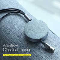 3 в 1, 1,2 А, кабель для быстрой зарядки usb, выдвижной, М, шнур для быстрой зарядки с типом C, Micro USB и зарядкой для iPhone X