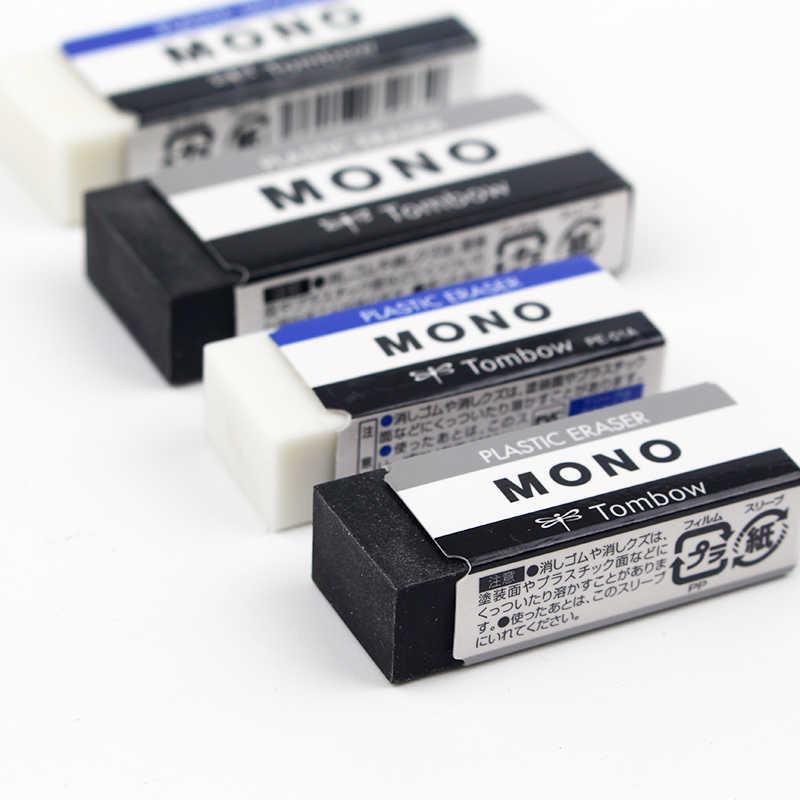 TOMBOW MONO Plasic Radiergummi PE-01A PE-03A Japan Reinigung Radiergummi Zeichnung 2B Bleistift Gummi Für Schule Studenten Mit Weniger Fetzen