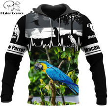 Plstar Cosmos animal New Fashion Harajuku casual 3D Printed Hoodie/Sweatshirt/Jacket Mens Womens MACAW parrot bird style-10 rouge bunny rouge silhouette парфюмерная вода silhouette парфюмерная вода