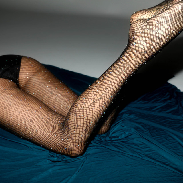 New Sexy Crystal Fishnet Stockings Tights Rhinestone Pantyhose Sexy Lingerie Black Lace Thigh High Stockings For Women Medias 6