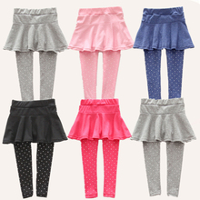 Kids Girls Leggings Skirt-Pants Kid Girl Winter Warm Cake Leggings Children's Girls Skirt-pants Cotton Pants for 0-6 Year Child
