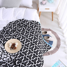 Fashion Geometric Series Blanket Knitting Soft Modern Design Modern Sofa Blanket Home Decor Bed Cover Shawl Blanket 130x180 цена 2017