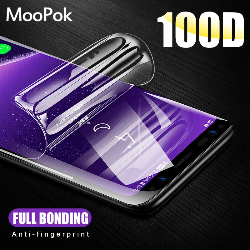 2Pcs 100D Screen Protector For Samsung Galaxy S8 S9 S10 Plus Full Cover Hydrogel Film For Samsung Note 8 9 10 S7 Edge Soft Film