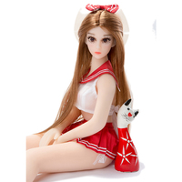 72cm Beautiful Sex Doll Full Silicone Love doll with Vagina Anal Holes Metal Skeleton for Men Masturbation