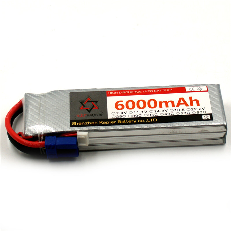 Upgrade RC Drone LiPo Battery 3S 6000mAh 11.1V 25C 35C 60C Rechargeable Batteries For Remote Control Airplane Boat Car Aircraft