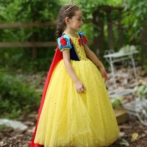 Image 3 - Disney Kinder Kleider für Mädchen Schnee Weiß Kostüm Prinzessin Kleid Halloween Weihnachten Party Cos kinder Kleidung Neue Jahr