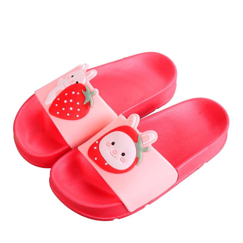 Kids Summer Slippers Boys Girl Slip On Sandals Infant Toddlers Slider Shoes Size