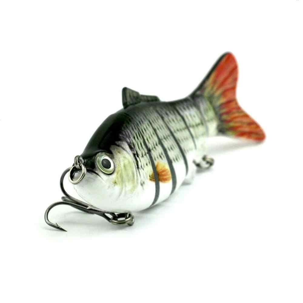 Señuelo de pesca duro Multi articulado de 10cm anzuelo de natación