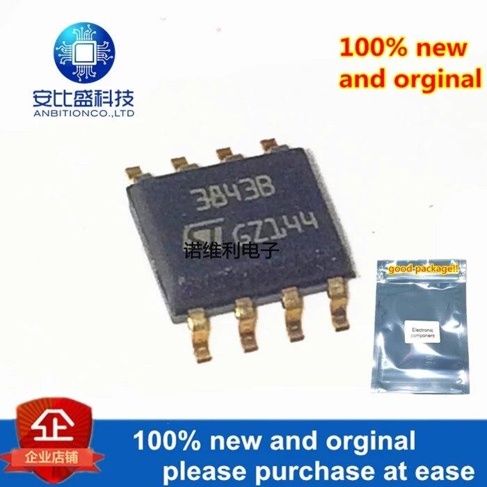 10pcs 100% New And Orginal UC3843BD1013TR UC3843B 3843B SOP-8 DC-DC In Stock