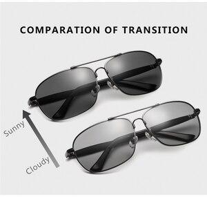 Image 4 - Очки солнцезащитные CAPONI мужские фотохромные, квадратные поляризационные, винтажные, из сплава, для вождения, UV400, BS10001