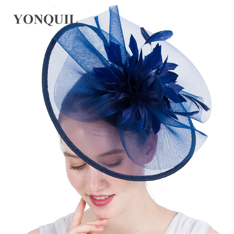 Ladies Feather Mesh Hair Clip Hat Fascinator Race Royal Ascot For Wedding Great