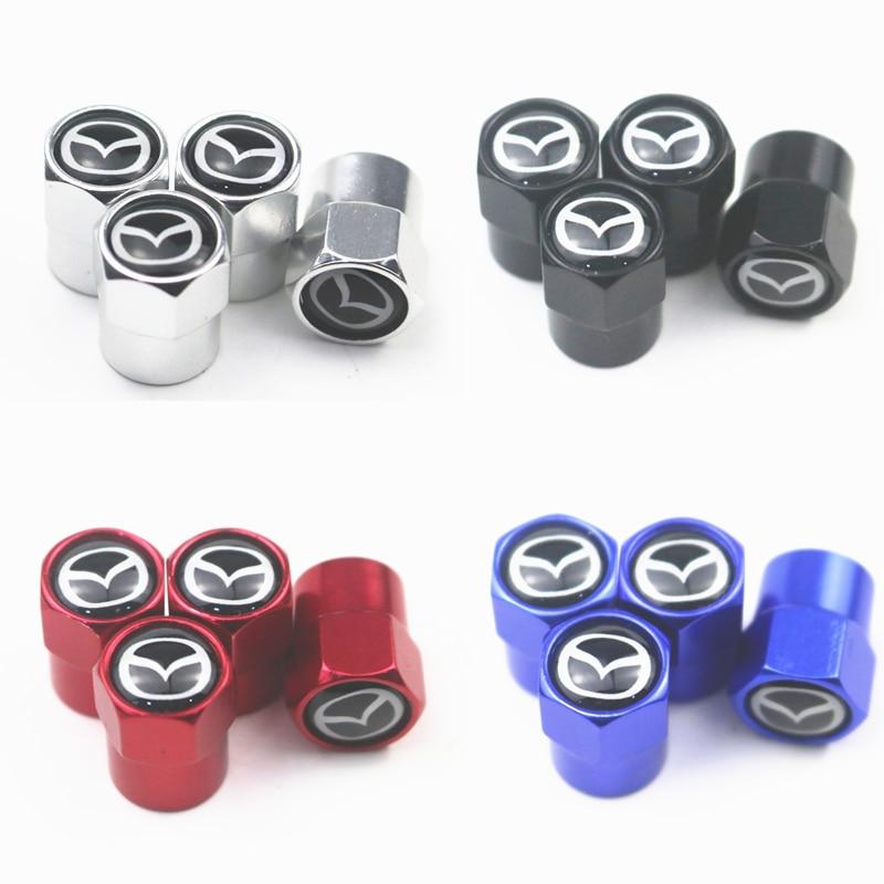 Baru 4 Buah Mobil Roda Tutup Batang Katup Ban Penutup untuk Mazda 2 Mazda 3 Ms Mazda 6 CX-5 CX5 artzma 6 Aksesoris Mobil