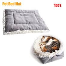 Cat Pet Bed Long Plush Super Soft Pet Bed Kennel Winter Warm Sleeping Bed Cushion Multi-function Convertible Pad For Products ydl p4002 r plush blanket for pet cat gog red multi colored