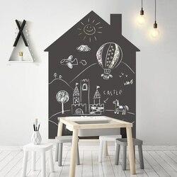 Calcomanía adhesiva de pizarrón para pared 120x90cm tablero negro papel de Contacto con tiza oficina papel tapiz con dibujos