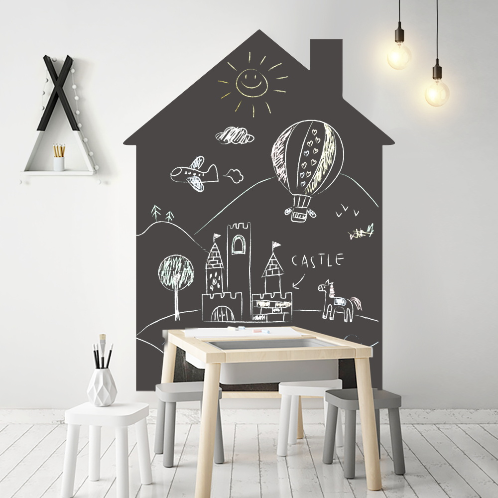 Self Adhesive Chalkboard Sticker For Wall 120x90cm Black Board Contact Paper With Chalk Office Learning Drawing Wallpaper Decal