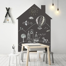 Купить с кэшбэком Self Adhesive Chalkboard Sticker for Wall 120x90cm Black Board Contact Paper with Chalk Office Learning Drawing Wallpaper Decal