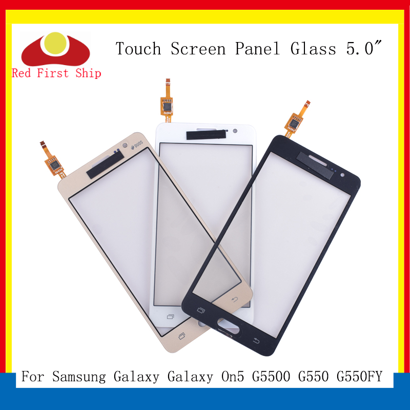 10Pcs/lot TouchScreen <font><b>For</b></font> <font><b>Samsung</b></font> Galaxy On5 <font><b>G5500</b></font> G550 G550FY <font><b>Touch</b></font> <font><b>Screen</b></font> Digitizer Panel Sensor Front Outer On5 LCD Glass image