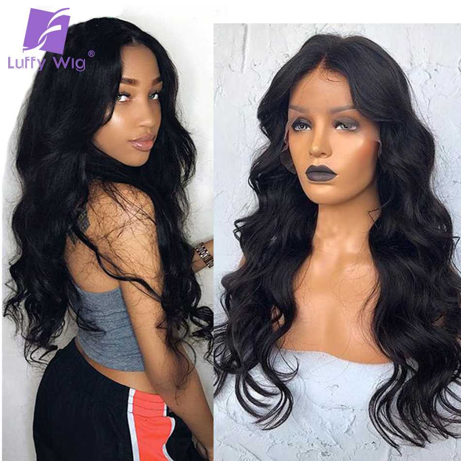 250% Density Human Hair Wigs Body Wave 13*6 Lace Front Wig Brazilian Remy Hair Bleached Knots PrePlucked For Women Remy Luffy